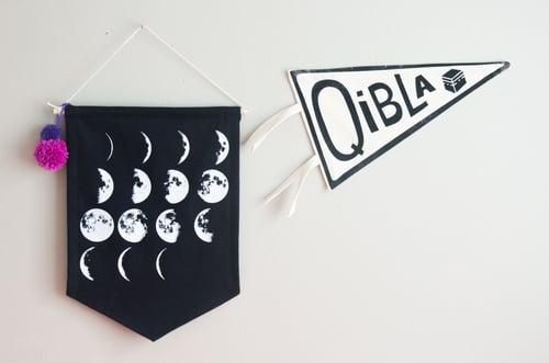 Image of Moon Phase Pennant - Black