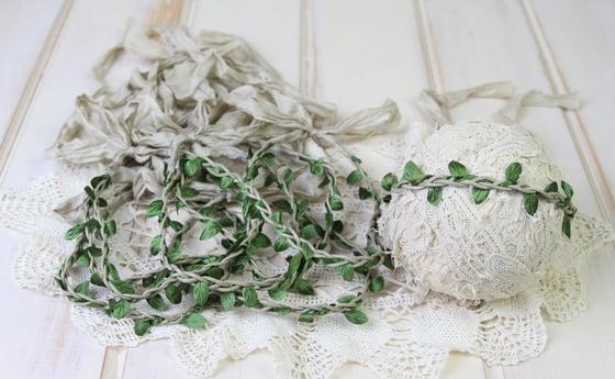 Image of Braided Leafy Halo/Silk Tieback