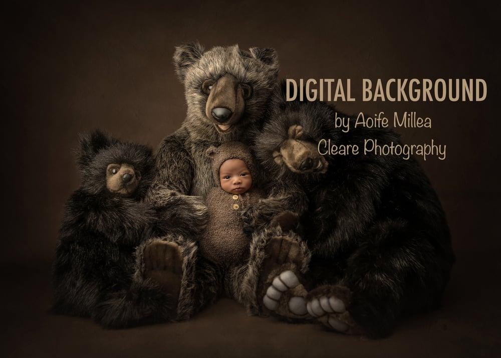 Image of layered tree bears newborn digital background