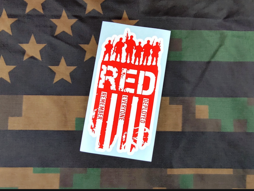 Image of 2 Tone R.E.D. Vinyl Decal