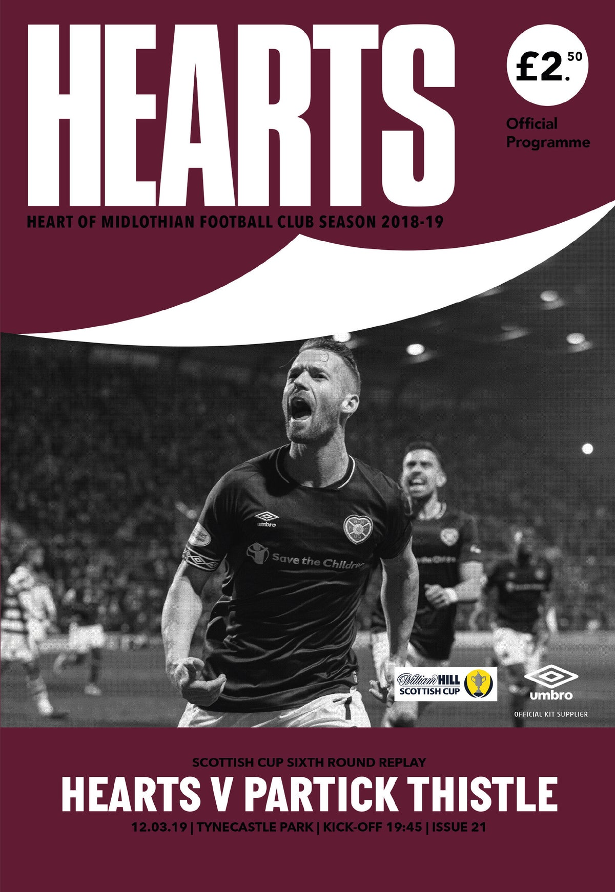 Image of Hearts v Partick Thistle, 12th March 2019