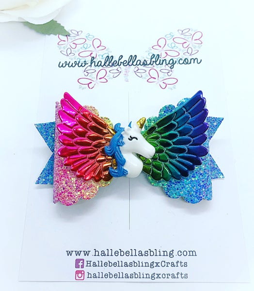Image of Unicorn rainbow wings