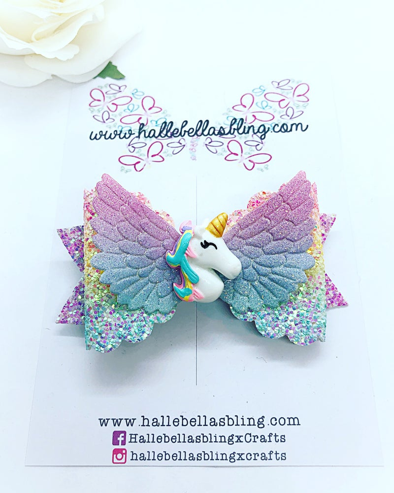 Image of Pastel rainbow unicorn wings