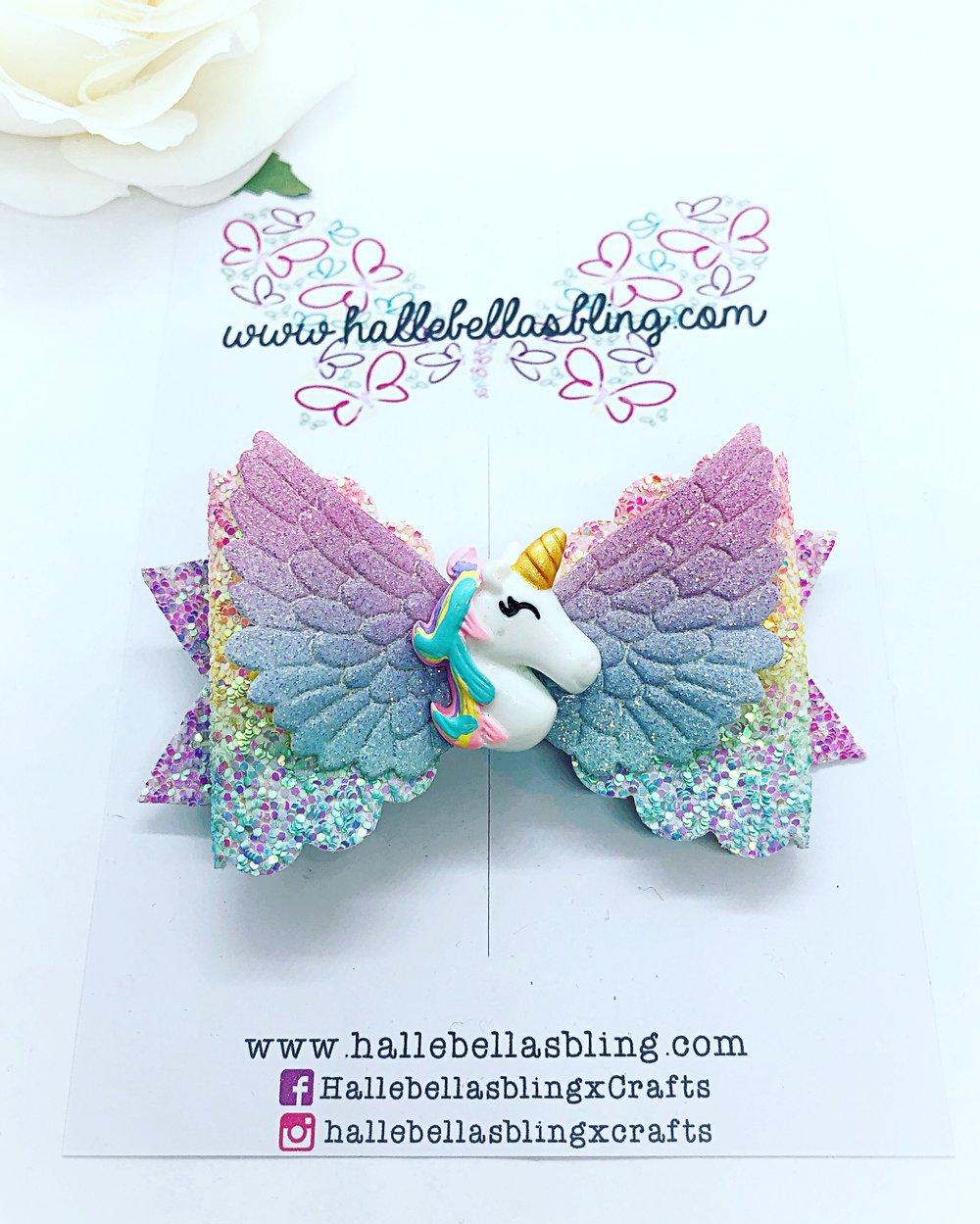 Image of Pastel rainbow unicorn wings