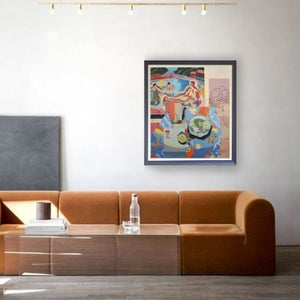 Image of Large, Contemporary Painting, 'Les Oiseaux,' Poppy Ellis