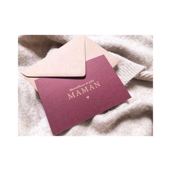 Image of Carte CATHERINE (avec dorure & enveloppe)
