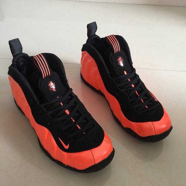 148389c0c75bd Image of Mens Winter Basketball Shoes Nike Air Foamposite Pro Black bright  orange