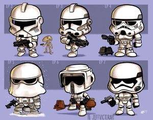 Image of Evolution of Stormtroopers print