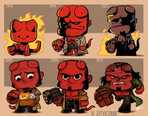 Image of Evolution of Hellboy print