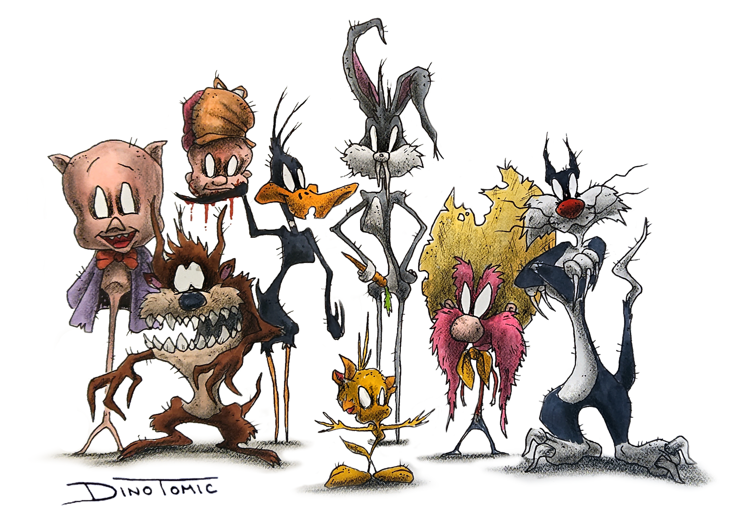 Image of #69 Looney toons Creepyfied