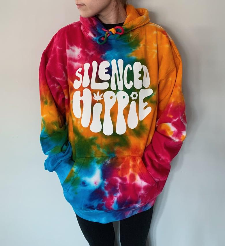 Image of PRE-ORDER Multi-color Tie-Dye SilencedHippie Hoodie