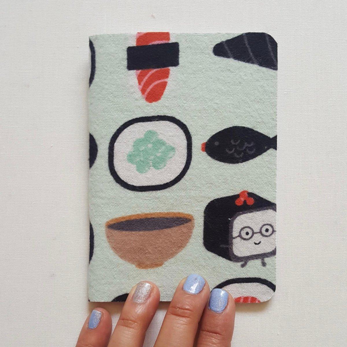 Image of Kawaii sushi notebook (small)