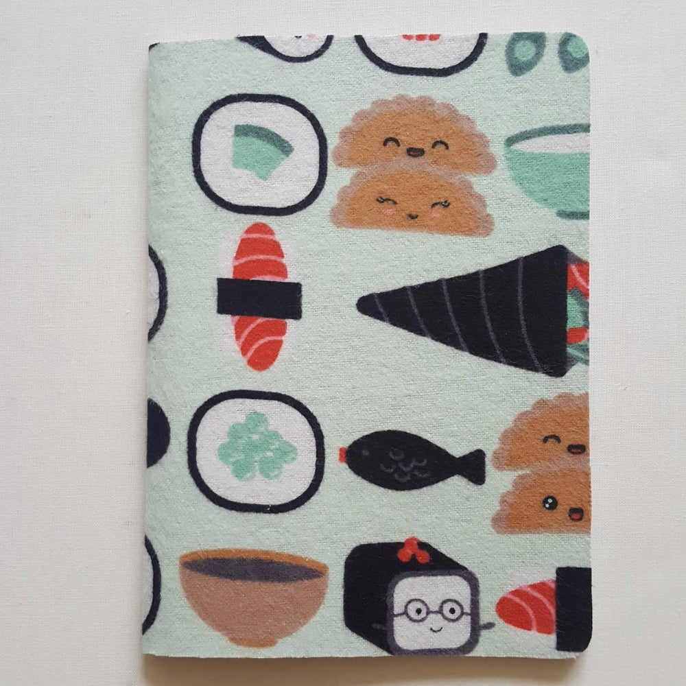 Image of Kawaii sushi notebook (large)