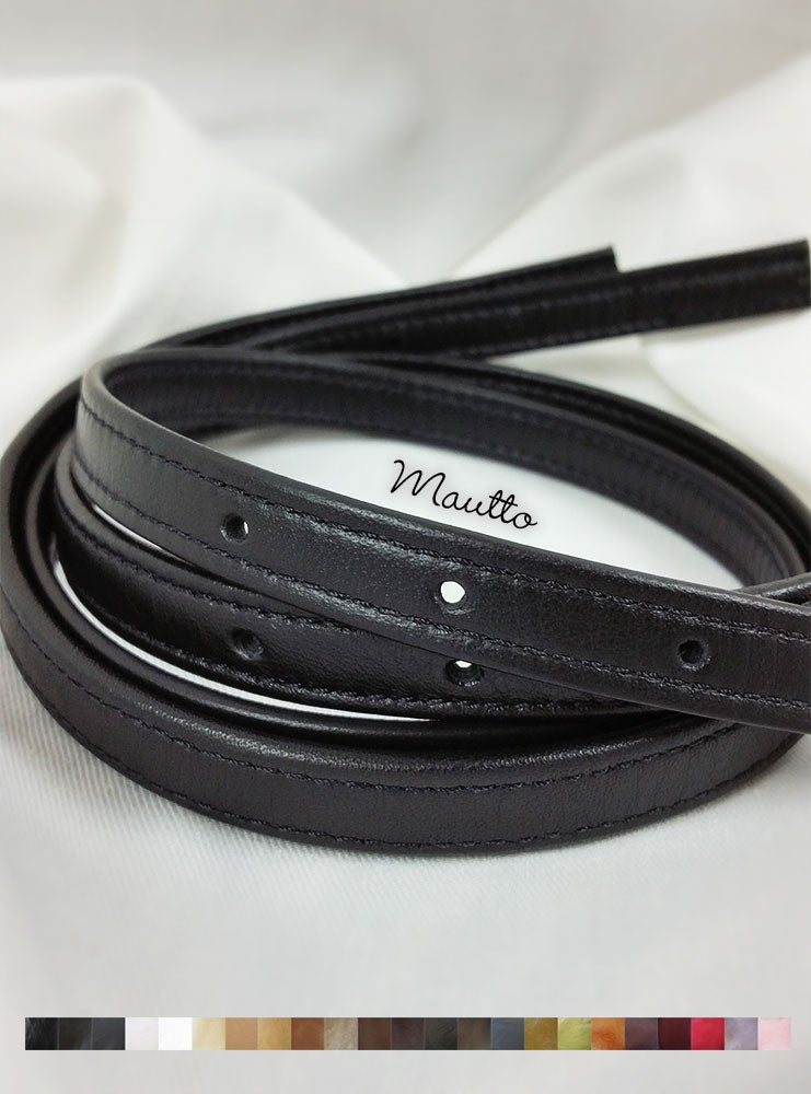 "Image of Adjustable Leather Straps (Set of 2) for Michael Kors (MK) etc - 3 Punched Holes on Ends - 1/2"" Wide"