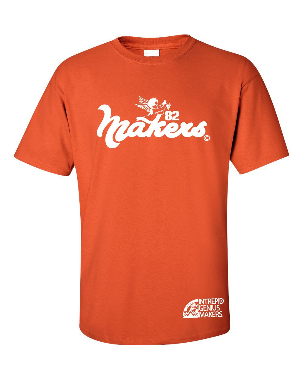 Image of Makers Funky logo tee Orange