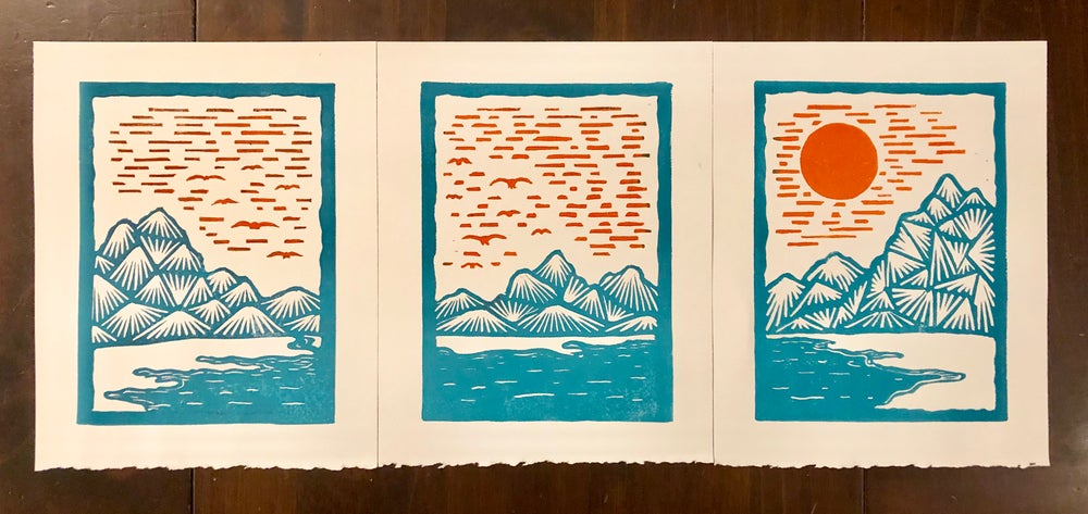 Image of Sunrise over the Turquoise Mountains prints