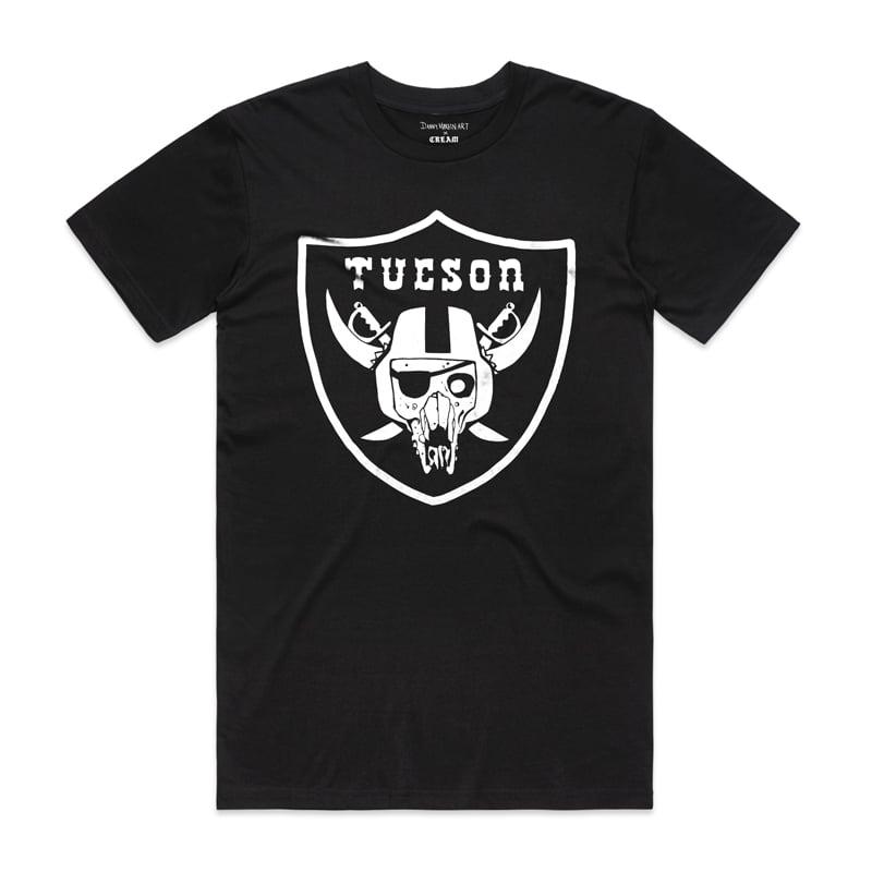 "Image of ""TUCSON RAIDERS"" - White on Black"