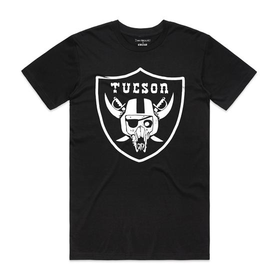 "Image of ""TUCSON RAIDERS"" - White on Black"