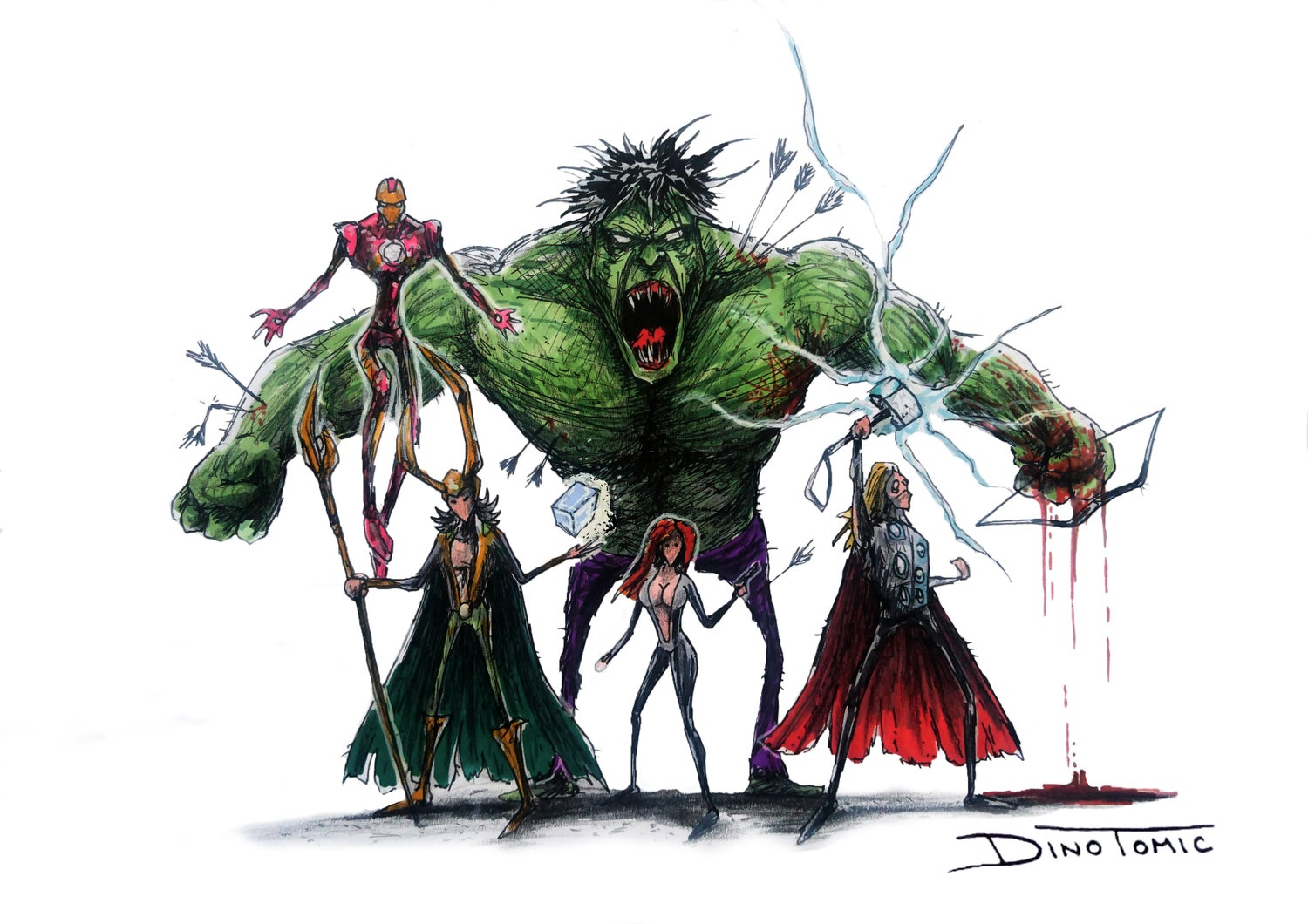 Image of #72 The Avengers Creepyfied