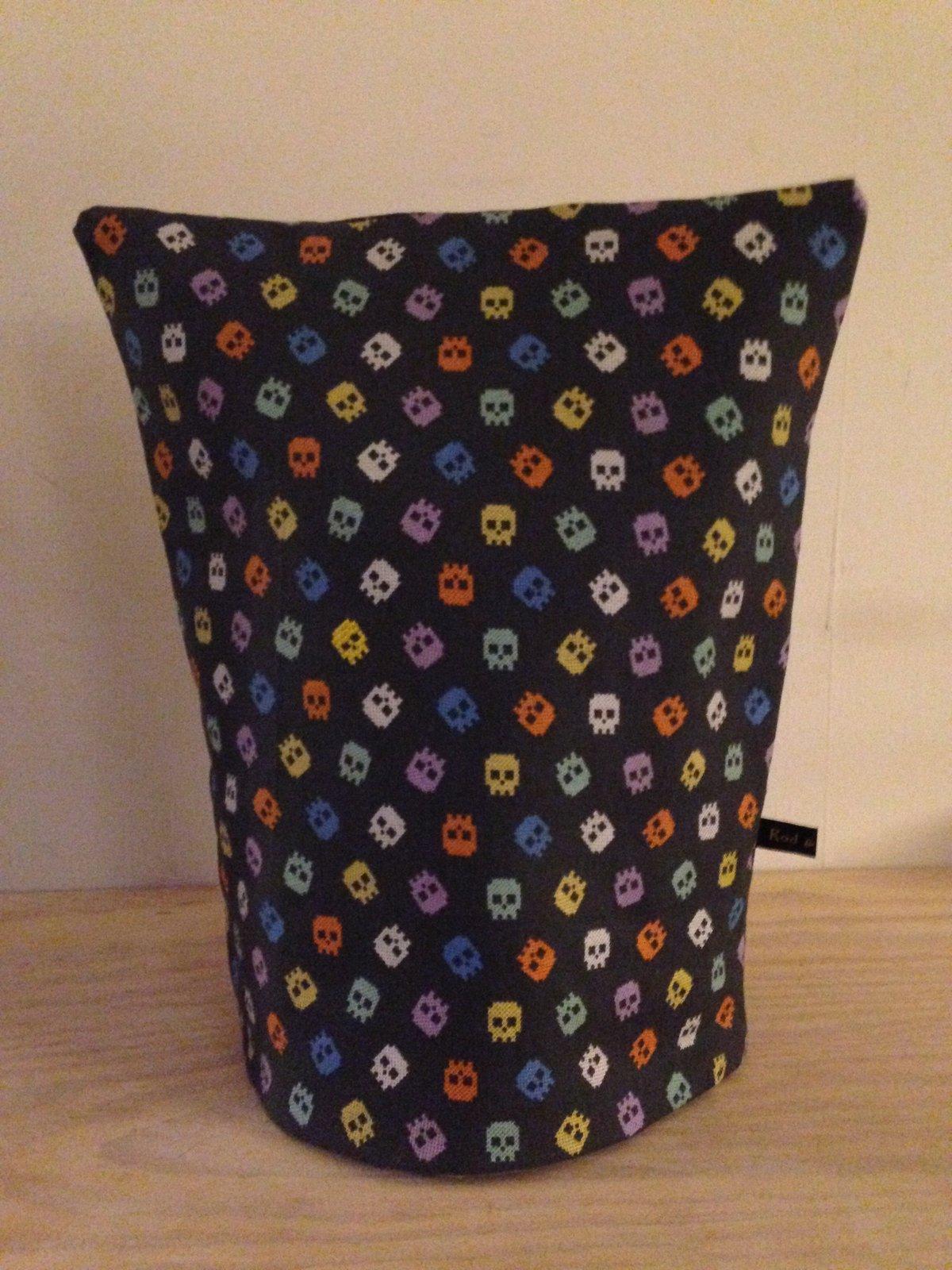 Image of Kaffehætte - print stof med broderi - flere varianter
