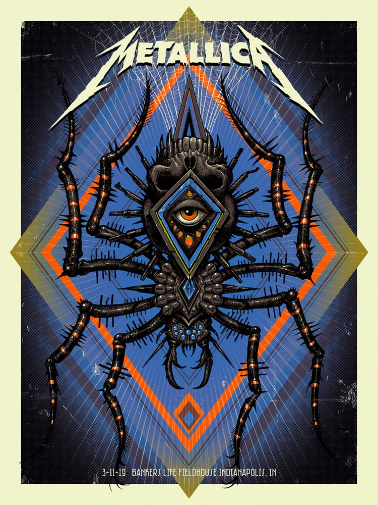 Image of Metallica Indianapolis Artist Edition Poster