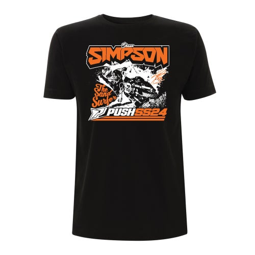 Image of Simpson Sand Surfer T-Shirt Black