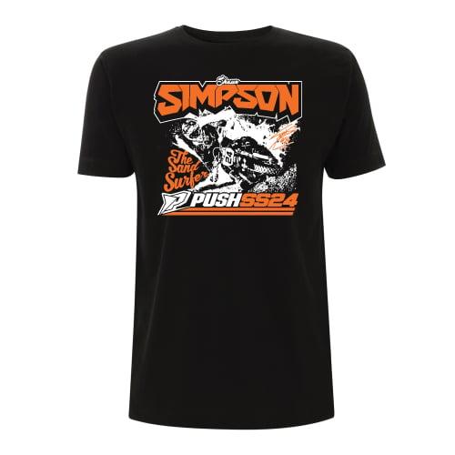Image of Simpson Sand Surfer T-Shirt Black