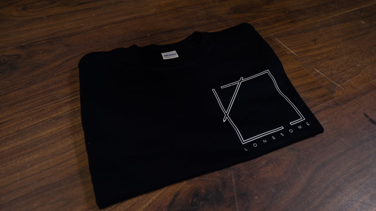 Image of Logo Pocket Print T-Shirt (Black)