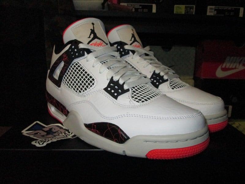 """Image of Air Jordan IV (4) Retro """"Bright Crimson/Pale Citron"""""""