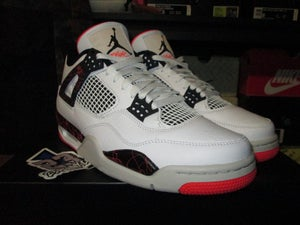 "Image of Air Jordan IV (4) Retro ""Bright Crimson/Pale Citron"""