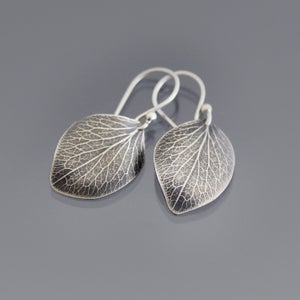 Image of Sterling Silver Hydrangea Petal Earrings