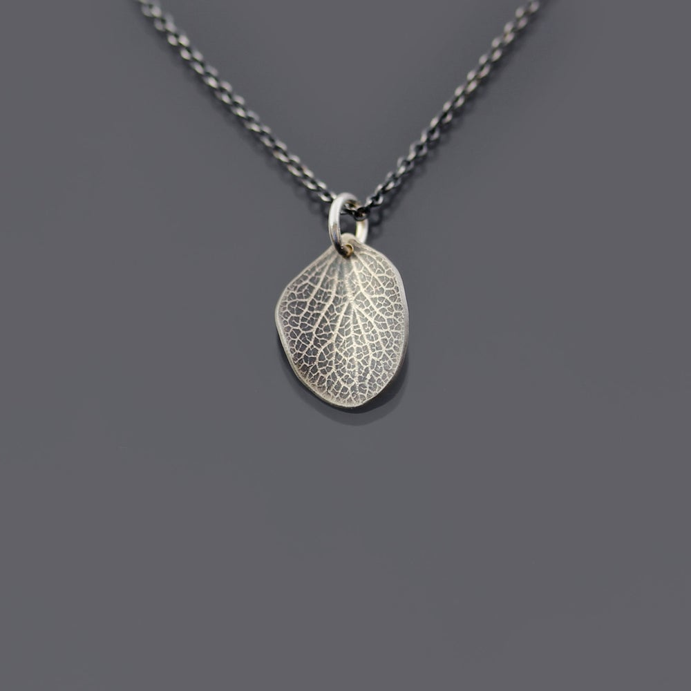 Image of Tiny Sterling Silver Hydrangea Petal Necklace