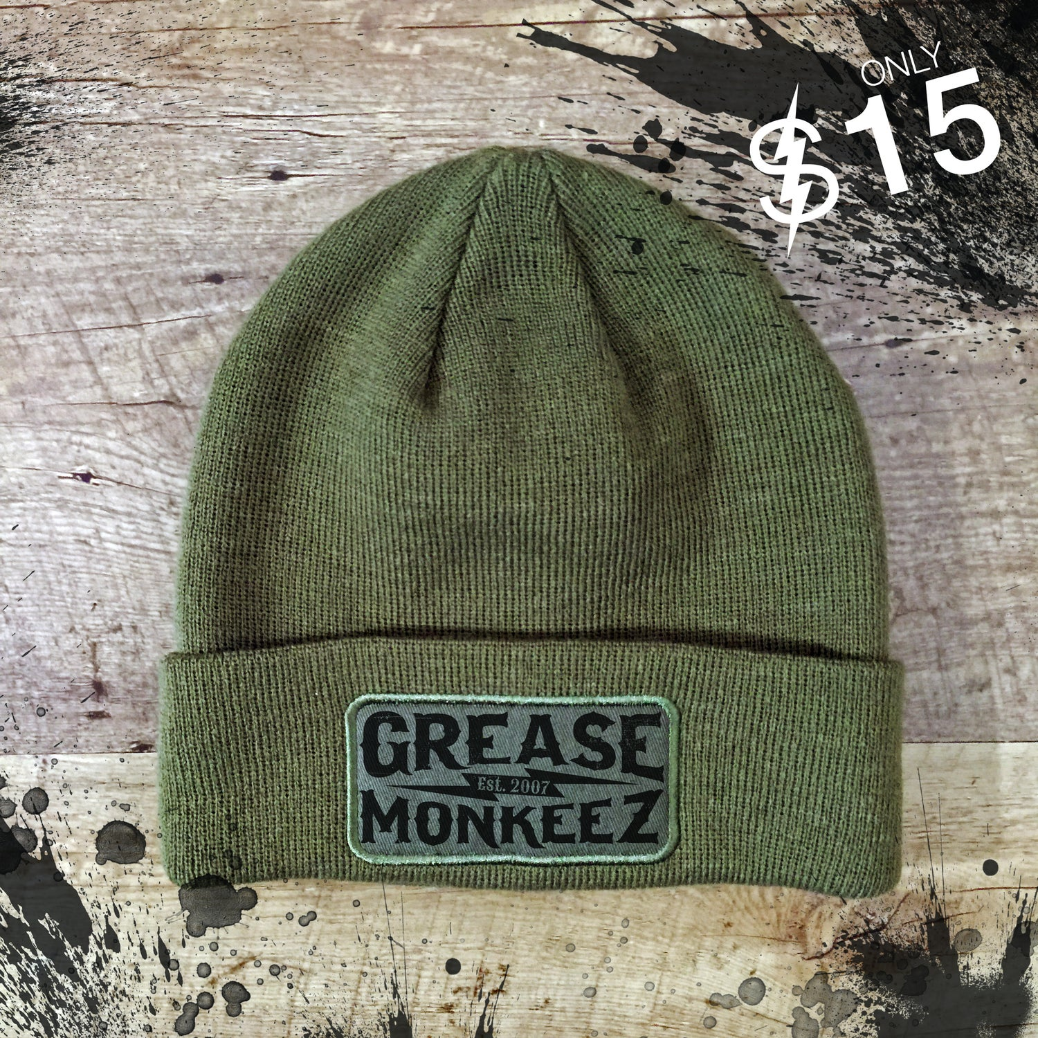 Image of Grease Monkeez - Beanie with patch