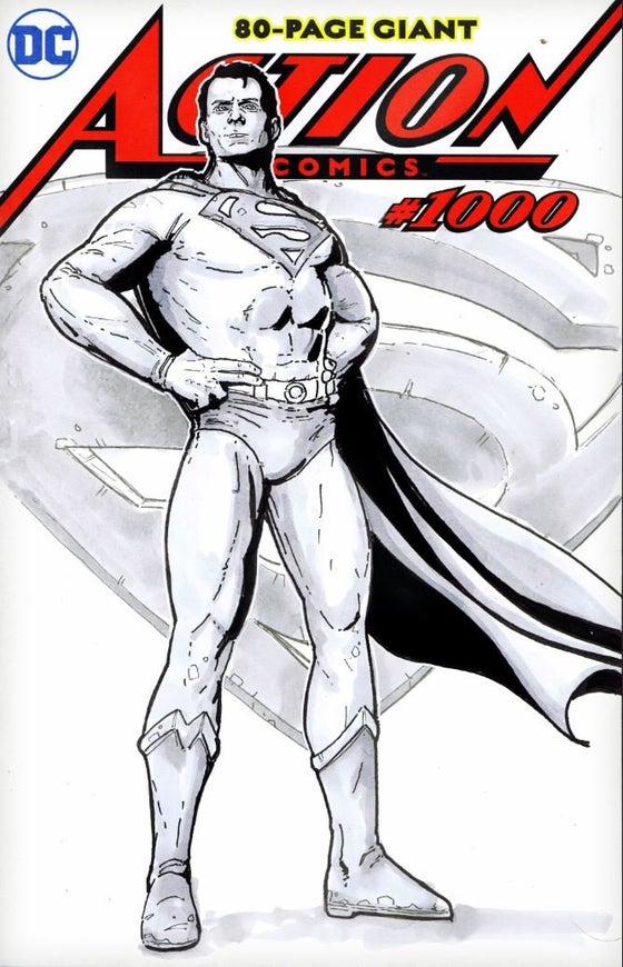 Image of Action Comics #1000 Blank Variant custom cover