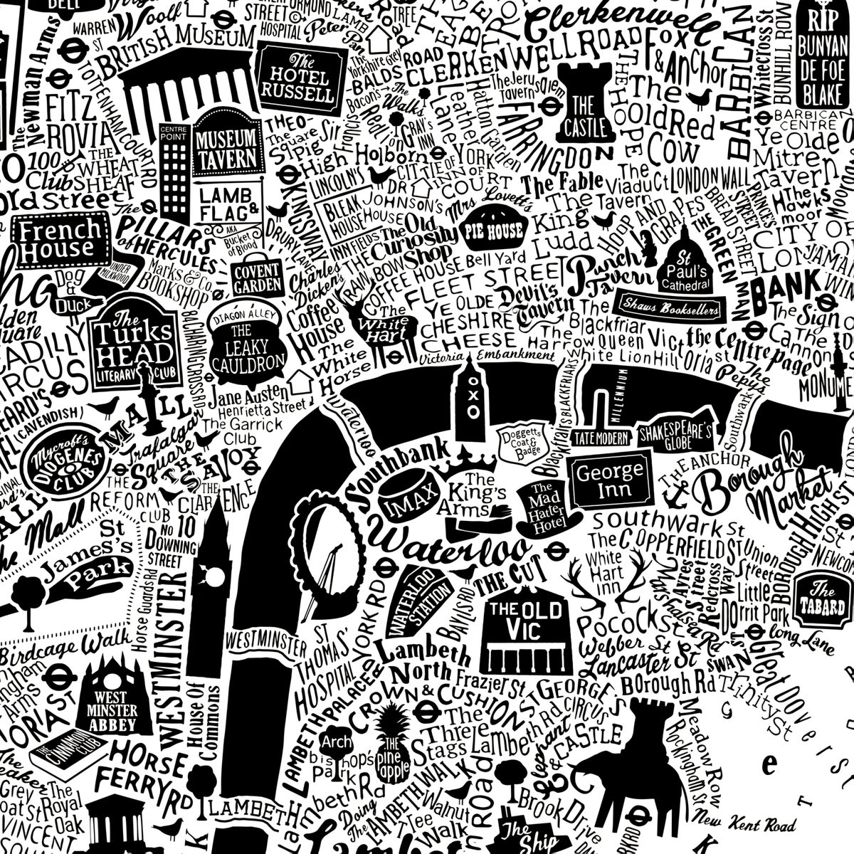 Image of Pubs Of Literary London (White)