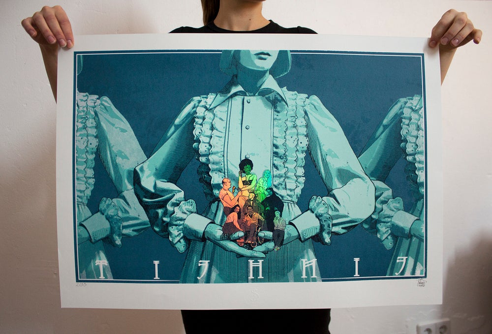 "Image of  ""Einheit"" Hand pulled Screen Print - by Sokar uno"