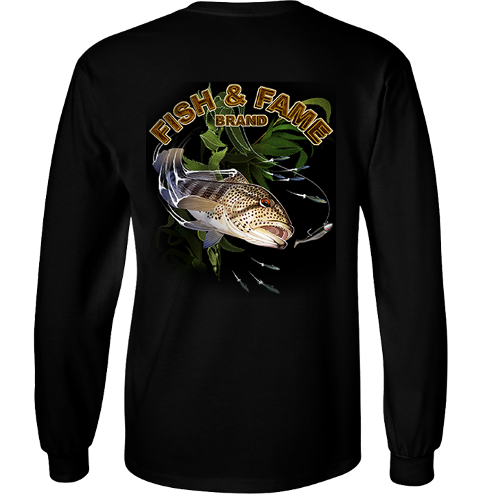 Image of Spotted Bay Bass Long Sleeve (black)