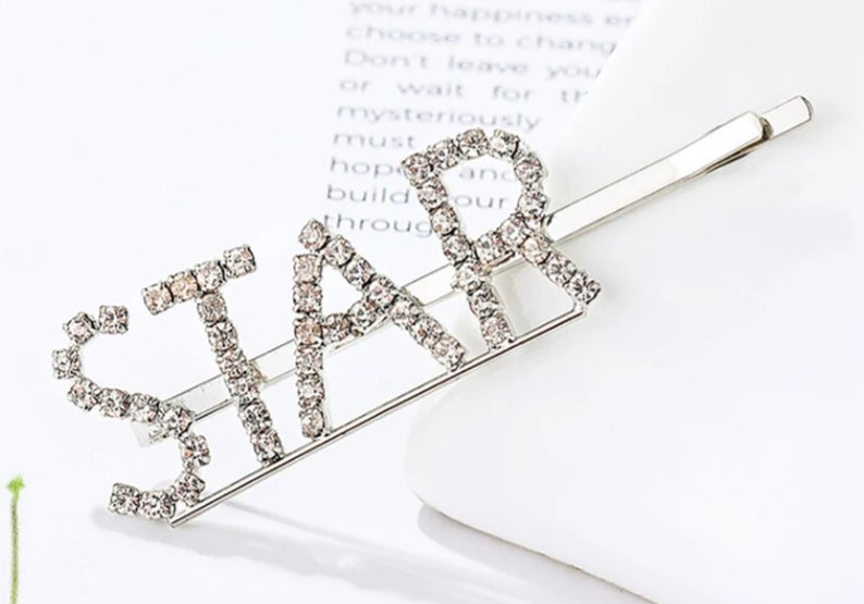 Image of Rhinestone Letter hair pins