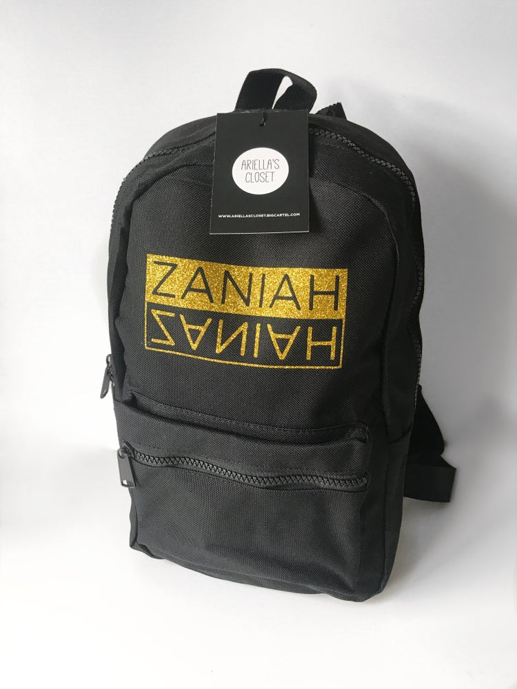Image of Personalised Mini Flipname Backpack