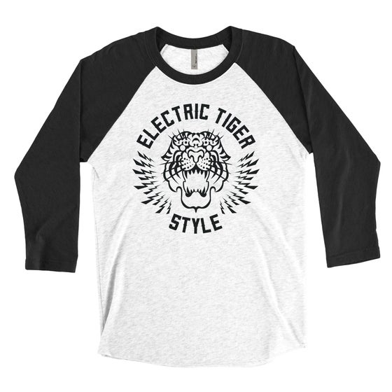 """Image of PREORDER - """"ELECTRIC TIGER STYLE"""" Unisex Baseball Tee"""