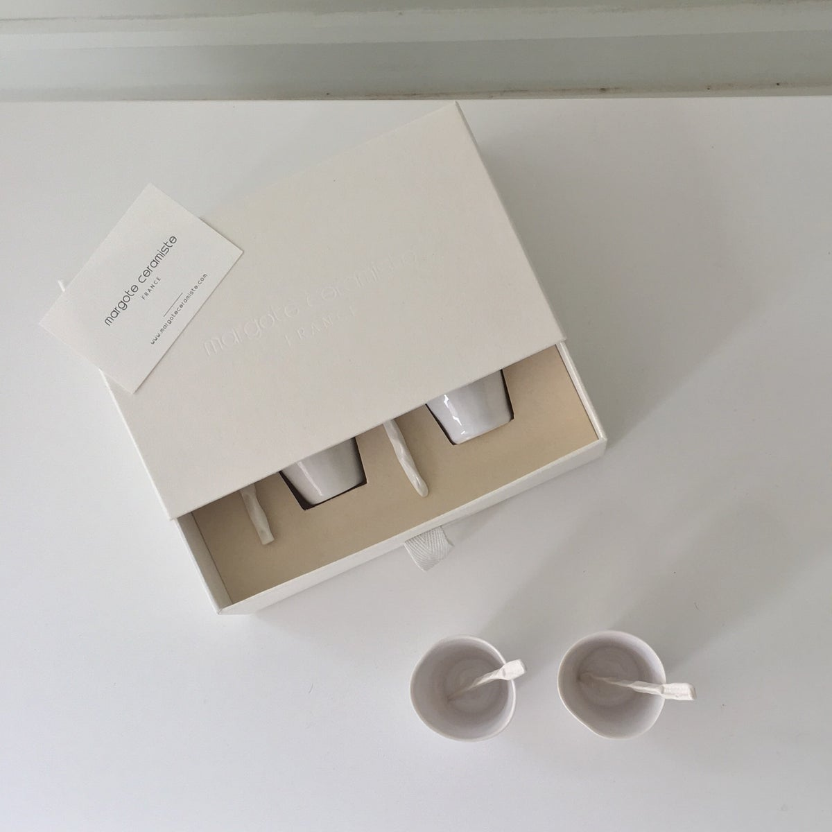 Image of COFFRET 2 TASSES VINTAGE