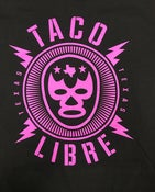 Image of Taco Libre - purple lucha - ADULT AND KIDS sizes (more sizes will be added)