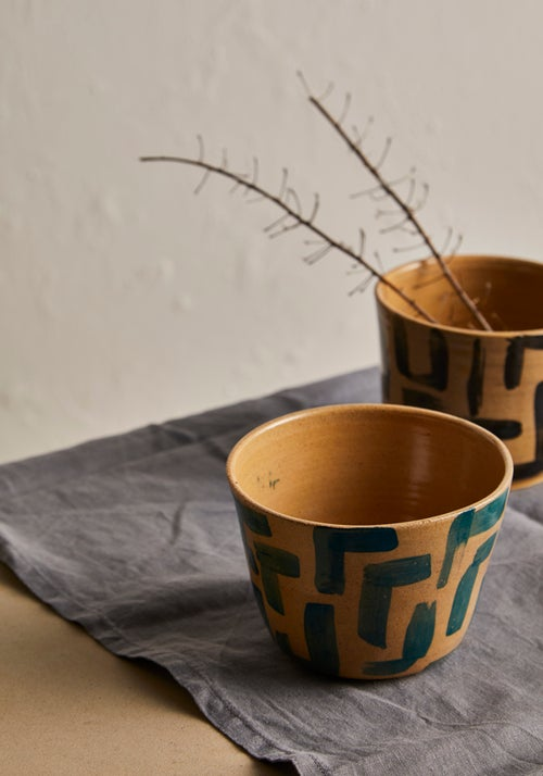 Image of Small patterned planter