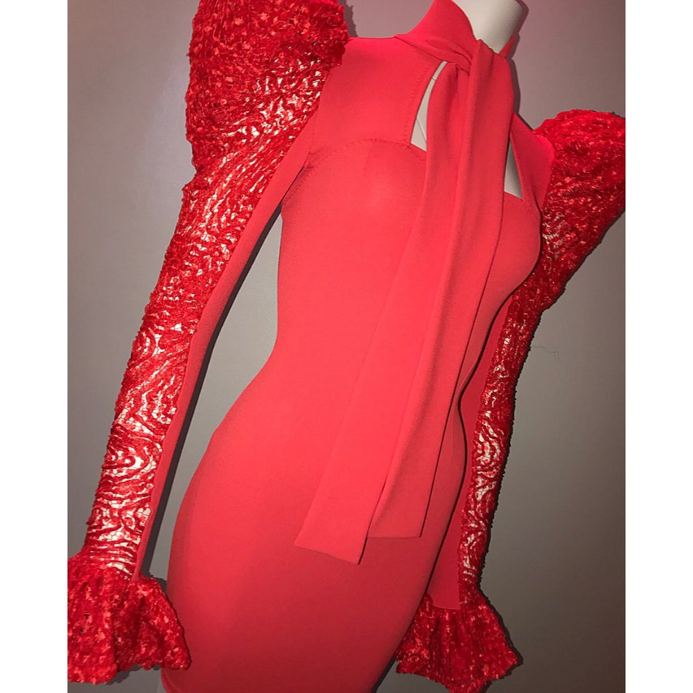 Image of F R E Y A / Dress - Red
