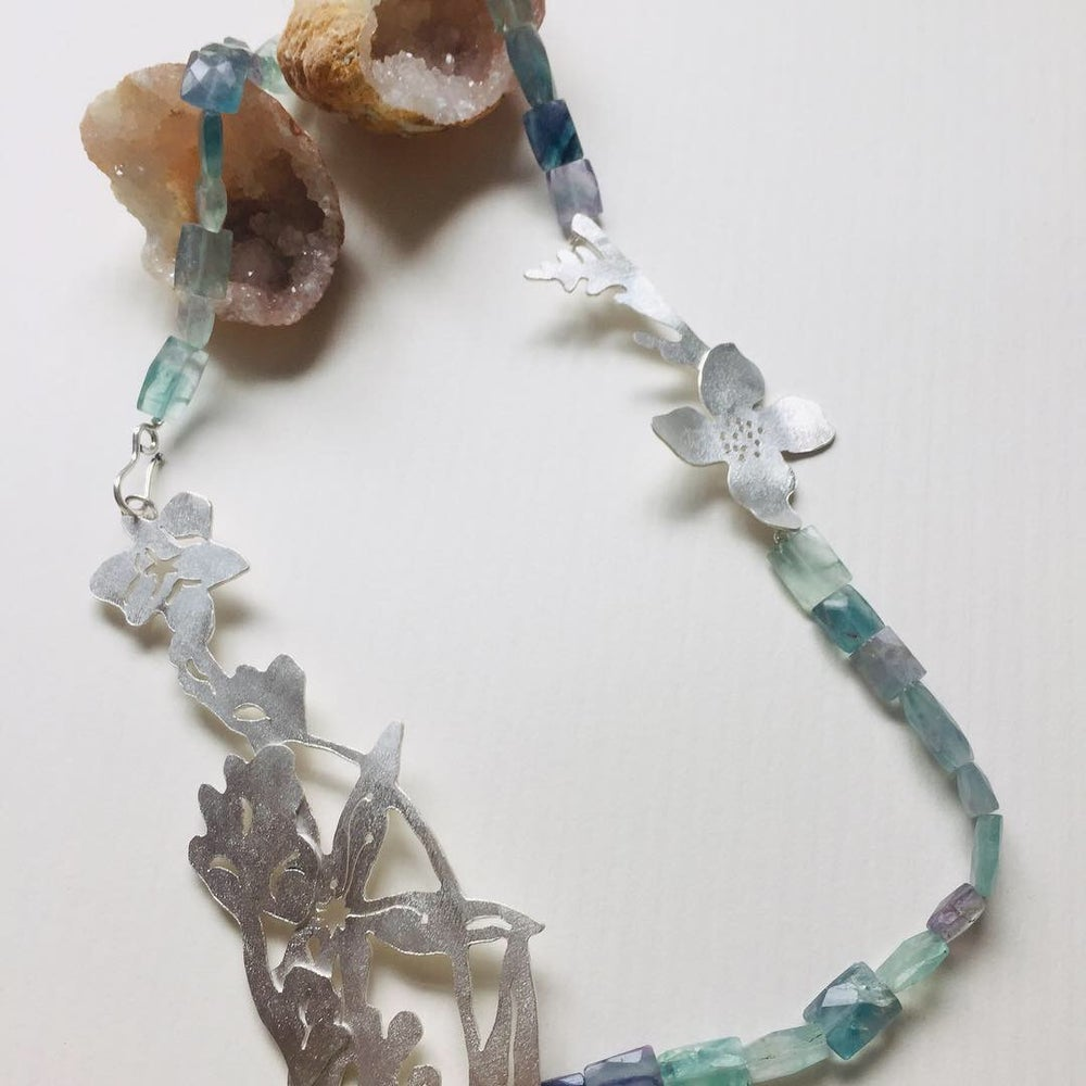 Image of Fluorite Spring Wildflower Garden Necklace