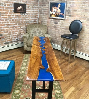 Image of Custom Handmade River Table by Gregory Dean