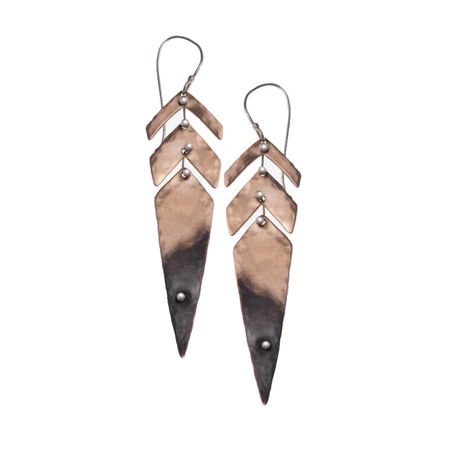 Image of Metal Feathers Earrings