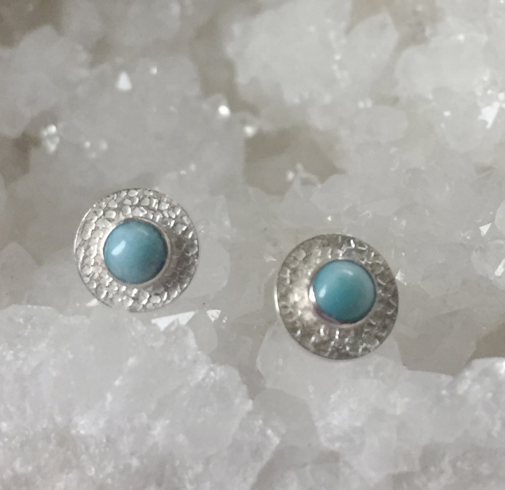 Image of Sparkle Studs Larimar Sterling Silver earrings