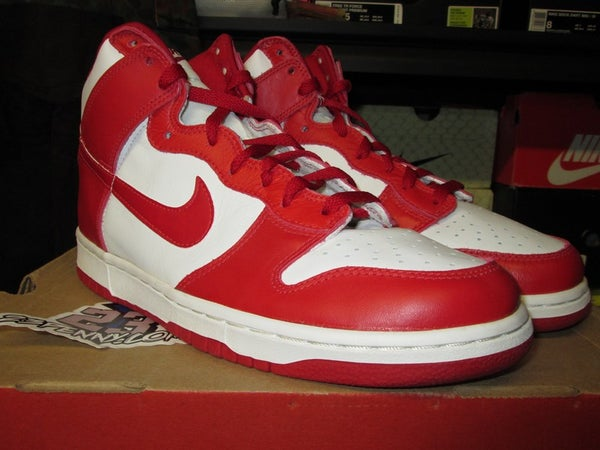 "Dunk High LE ""Varsity Red/White"" 1999 - SIZE11ONLY - BY 23PENNY"