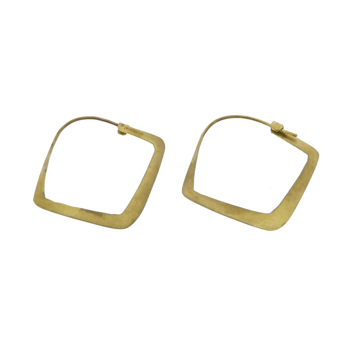 Image of Triangle Brass Hoops